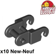 Lego technic - 10x Link chain tread maillon chaine chenille noir/black 3711 NEUF