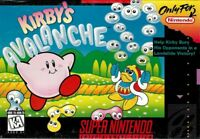 Kirby's Avalanche Super Nintendo Snes Cleaned Tested Cart Only Authentic
