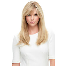 Gold Blonde Medium Long Straight Wavy Hair Natural Ombre Full Party Wigs