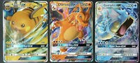 Pokemon 3 Card Lot : Charizard Raichu Gyarados SM211 212 213 Hidden Fates Tins