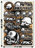 Metal Mulisha Stickers Decals Motorcycle Bike Truck Bumper MX Supercross MTB T18