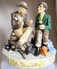 Muller Volkstedt Irish Dresden Figural Group The Story Teller Capodimonte Style