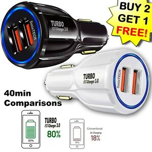 USB Fast Quick CAR Charger Adapter (16W / 5,9,12V / 3.1A) for Android or iPhone