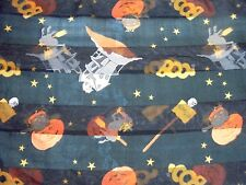 Halloween Scarf Multi-Color Rectangular Jack O Lanterns Witches Haunted House