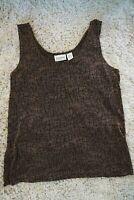 Chicos Travelers Size 2 Womens Tank Top Brown Snake Pattern