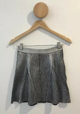 Sass and Bide Blue Moon Metallic Silver Knit Skirt