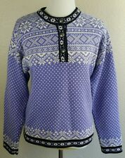 WOMEN'S MEDIUM L.L.BEAN UGLY SWEATER CHRISTMAS PARTY PURPLE WHITE SHIRT CUP RACK