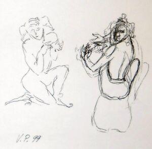 "Original drawing pen ink on paper 12x9"" 1999  CONTEMPORARY ART surrealism"