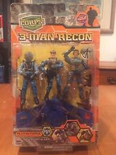 The Corps 3-Man Recon Flying Force Action Figures Mach Storm Glider NIB Lanard