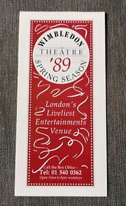 Dr Doctor Who Ultimate Adventure PERTWEE Stage Play Wimbledon Theatre Flyer 80s
