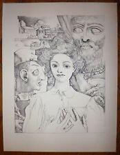 Alfred Courmes lithographie originale signée surréalisme mythologie panique art