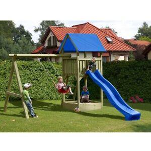 Spielturm mit Schaukel und Rutsche TÜV Holz KDI Gartenpirat Premium S