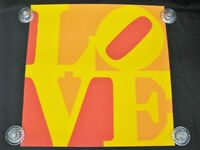 """Iconic Robert Indiana 1973 """"Golden Love"""" Serigraph from Limited Edition of 150"""