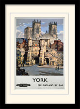 York See England By Rail Framed & Mounted Print