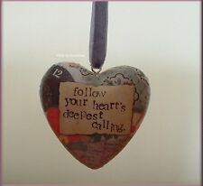 DEEPEST CALLING BOXED HEART ORNAMENT BY KELLY RAE ROBERTS FREE U.S. SHIPPING