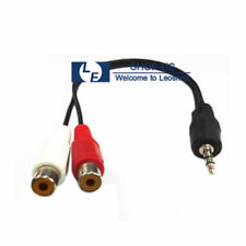 New 3.5mm 1/8 Male Plug to 2 RCA Female Jack Stereo Audio Y Adapter Cord Cable