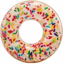 Bouée Donut Sucré 114 cm Bouée Gonflable été Piscine Plage Enfant Adulte