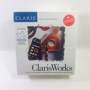 ClarisWorks 2.0 Macintosh Factory Sealed Education Edition 1993 Apple Software