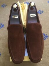 New John Lobb Mens Shoes Brown Suede Loafers UK 11.5 US 12.5 45.5 Slipper House