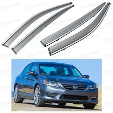 Front & Rear Side Window Visor Deflectors Vent Shade for Honda Accord 2013-2015