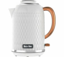 BREVILLE Curve VKT018 Jug Kettle - White & Rose Gold - Currys