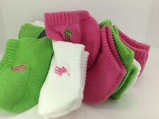 Women's Ralph Lauren POLO pretty pink green socks - 6 Pack - $36 MSRP - 10%