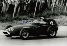 Stirling Moss Hand Signed Vanwall F1 12x8 Photo 3.