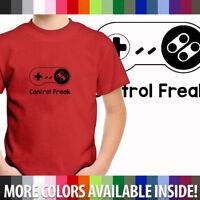 Toddler Boy Kid Youth Tee T-Shirt Control Freak SNES Super Nintendo Retro Gaming