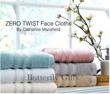 4 Pack Face Cloth 550 gsm Towel Zero Twist 100% Pure Cotton Catherine Lansfield