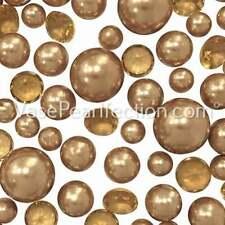 120 Gold Pearls + Matching Gems-Jumbo/Assorted Sizes Vase Decorations
