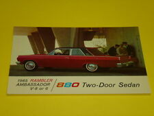 1965 RAMBLER AMBASSADOR 880 2-DOOR SEDAN POSTCARD, DEALER ADVERTISEMENT