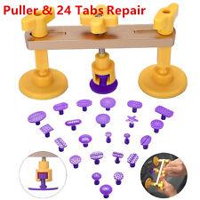 Portable Car Body Paintless Dent Hail Removal Repair Bridge Tool & 24*Glue Tabs
