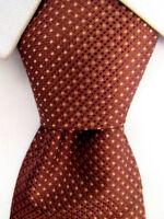 Men's BCBG Attitude Brown Silk Tie Hand Made A25682
