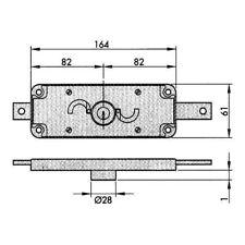 Aga - cerradura puerta metalica seguridad 184