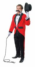 Mens Ringmaster Costume Circus Showman Adult Fancy Dress Outfit