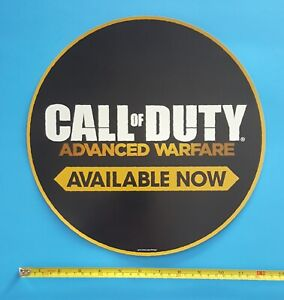 CALL OF DUTY Video Game Store Display Window Cling Promo Sign 2014 Never Used!