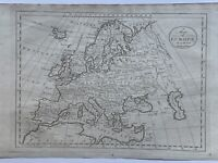 1795 Europe by Cornelius Paas Original Antique Map 226 Years Old