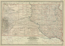 1897 (98) N. Dakota & S, Dakota  by The Century Co, 2 maps