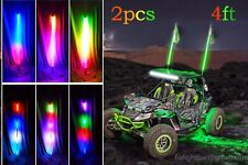 Pair of 4FT Whip Light Dream Color Chasing ATV Antenna 150LED Felxible*Bluetooth