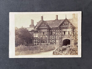 Victorian Carte De Visite CDV: Speke Hall, Timber Team Tudor Mansion Liverpool