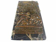 Papierhalter, Relief Bronze, Jagd, Hund, Wildschwein, um1900