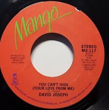 """DAVID JOSEPH """"You Can't Hide (Your Love From Me)"""" 7"""" 45rpm Soul Funk MANGO"""