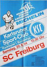 Karlsruher SC KSC SC Freiburg 1. Bundesliga 20. August 1994 Plakat Wildpark
