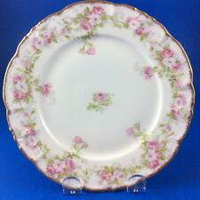 Antique LS&S Limoges Bridal Wreath Roses Porcelain Dessert Plates - Set Of 4