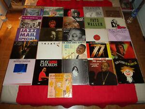 LOT 25 LP + 1 25cm 10' JAZZ / JONAH JONES JOE TURNER OSCAR PETERSON ELLINGTON /E