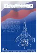 GALAXY D48005 1/48 SU-35S Colour Separation Die-cut Flexible mask for Great Wall