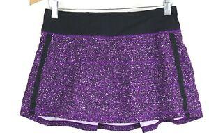 Lululemon Womens sz 6 Purple Printed Power Skort