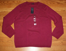NWT Womens TOMMY HILFIGER Red Plum Crew Neck Sweater Sz S Small