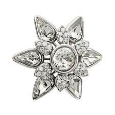 Chamilia (Works w/Pandora) 925 Silver Starburst Lock Crystal Swarovski Bead