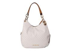 Michael Kors MK Signature Lillie LG Chain Shoulder Tote Bag Vanilla 30t9g0le3b